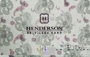 Дисконтная карта HENDERSON Privilege Card